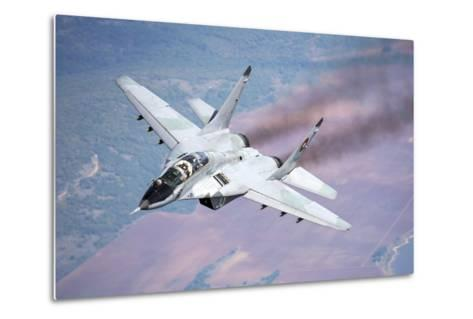 A Bulgarian Air Force Mig-29S During a Training Mission over Bulgaria-Stocktrek Images-Metal Print