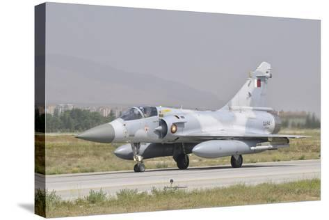 A Qatar Emiri Air Force Mirage 2000 Taxiing on the Runway-Stocktrek Images-Stretched Canvas Print