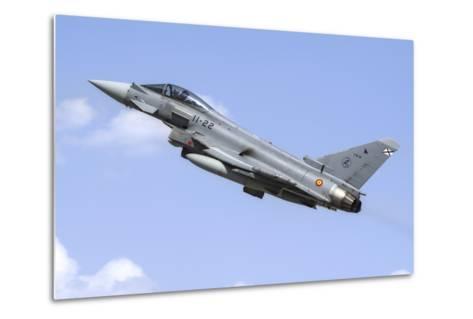A Spanish Air Force Ef-2000 Typhoon Taking Off-Stocktrek Images-Metal Print