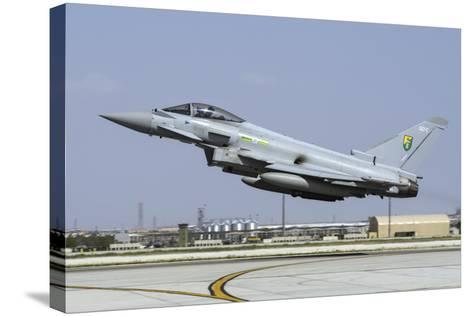 A Royal Air Forcetyphoon Fgr4 Taking Off from Konya Air Base, Turkey-Stocktrek Images-Stretched Canvas Print