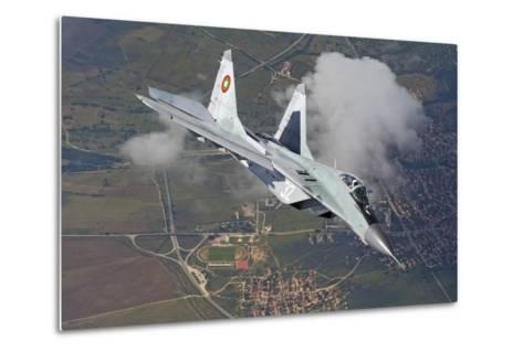 A Bulgarian Air Force Mig-29 in Flight over Bulgaria-Stocktrek Images-Metal Print