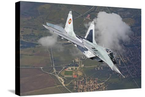 A Bulgarian Air Force Mig-29 in Flight over Bulgaria-Stocktrek Images-Stretched Canvas Print