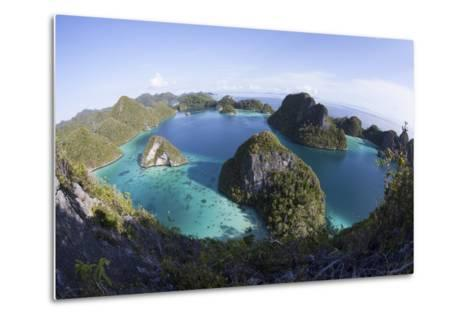 Limestone Islands Surround a Lagoon in a Remote Part of Raja Ampat-Stocktrek Images-Metal Print