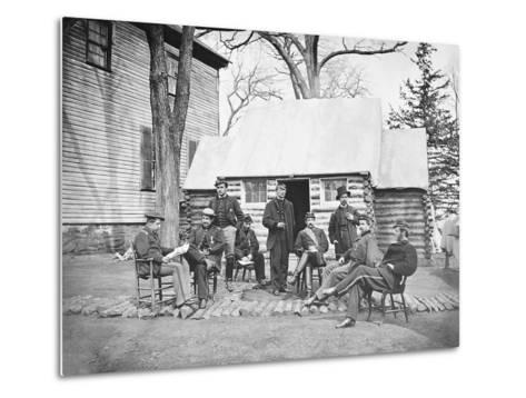 Officers at Headquarters of 6th Army Corps During the American Civil War-Stocktrek Images-Metal Print
