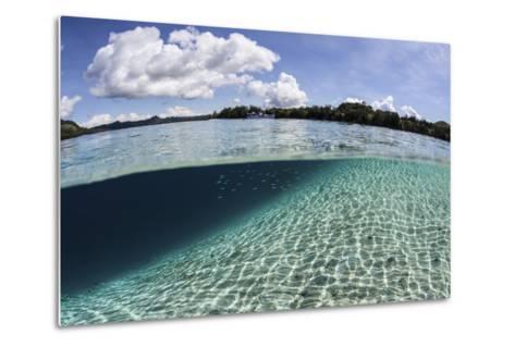 Sunlight Dances across a Sandy Slope Off the Island of Guadalcanal-Stocktrek Images-Metal Print