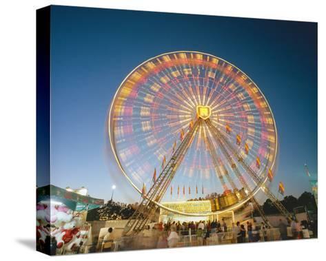 North Carolina State Fair Ferris Wheel-Henri Silberman-Stretched Canvas Print