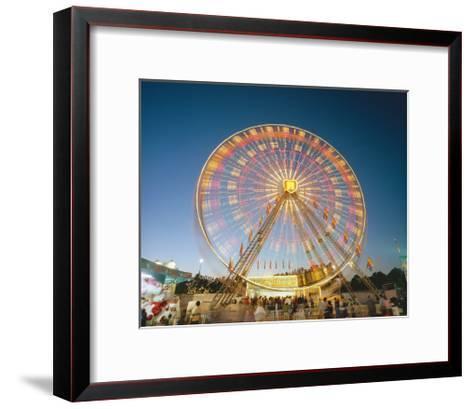 North Carolina State Fair Ferris Wheel-Henri Silberman-Framed Art Print