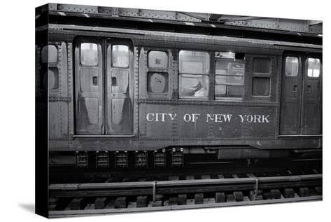 Subway Car Close-Up Nyc-Henri Silberman-Stretched Canvas Print