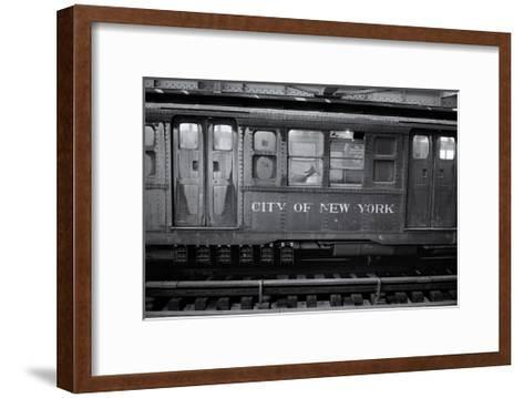 Subway Car Close-Up Nyc-Henri Silberman-Framed Art Print