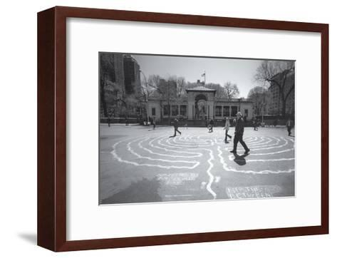 Manhattan Union Square Park Walkers-Henri Silberman-Framed Art Print