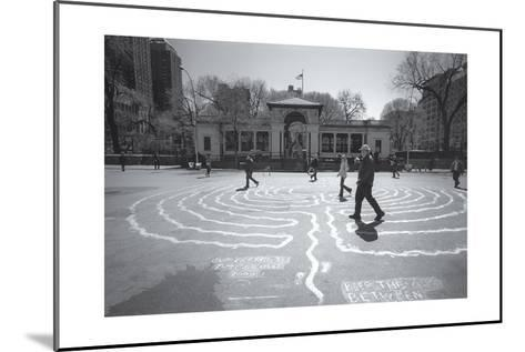 Manhattan Union Square Park Walkers-Henri Silberman-Mounted Photographic Print