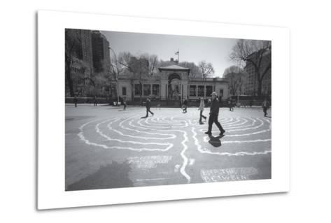 Manhattan Union Square Park Walkers-Henri Silberman-Metal Print