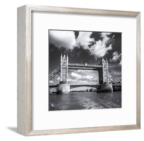 Tower Bridge, Clouds-Henri Silberman-Framed Art Print