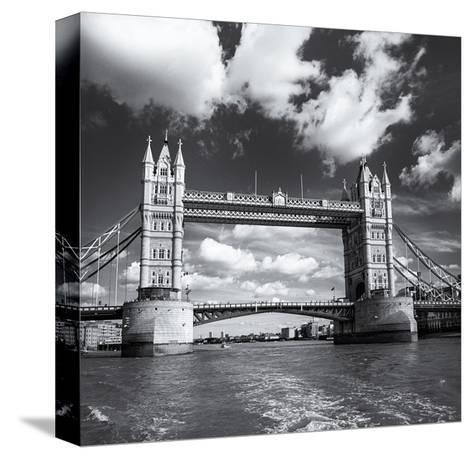 Tower Bridge, Clouds-Henri Silberman-Stretched Canvas Print