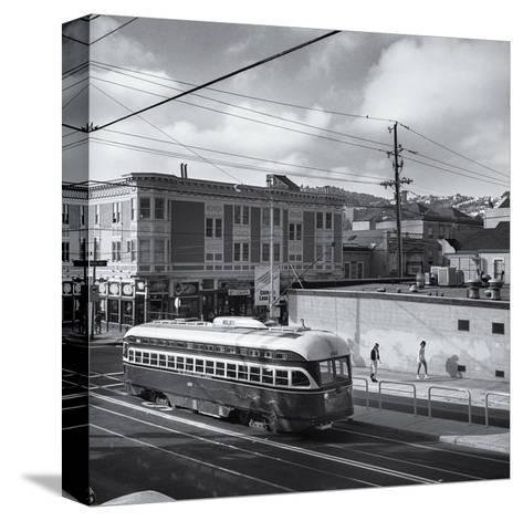 Vintage Trolley, San Francisco-Henri Silberman-Stretched Canvas Print