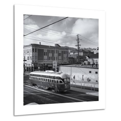 Vintage Trolley, San Francisco-Henri Silberman-Metal Print