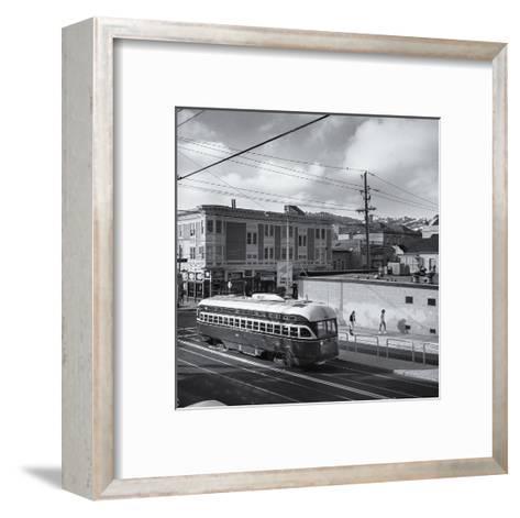 Vintage Trolley, San Francisco-Henri Silberman-Framed Art Print