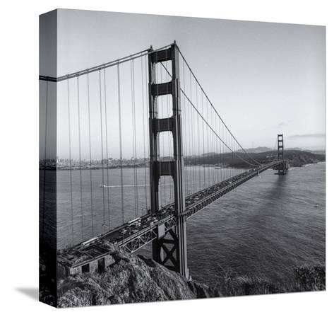 Golden Gate Bridge Late Afternoon-Henri Silberman-Stretched Canvas Print