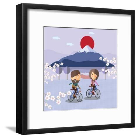 Travel in Japan-Sajja-Framed Art Print