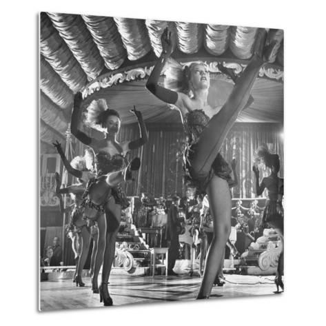 Chorus Girls Dancing During Show at Latin Quarter-George Silk-Metal Print