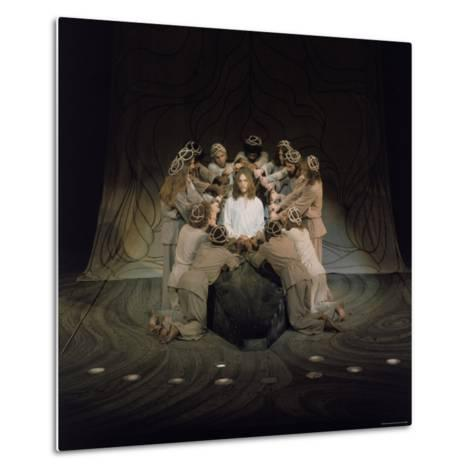 Jesus Surrounded by His Disciples in a Scene from Jesus Christ Superstar-John Olson-Metal Print