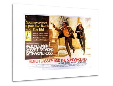 Butch Cassidy and the Sundance Kid - Lobby Card Reproduction--Metal Print