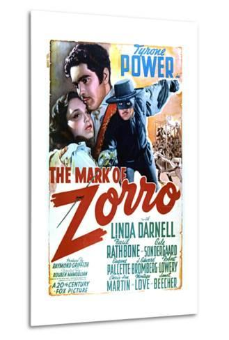 The Mark of Zorro - Movie Poster Reproduction--Metal Print