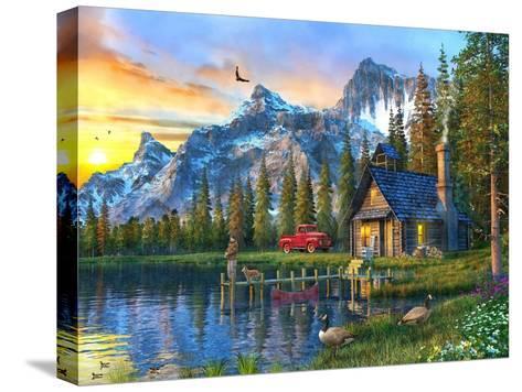 Sunset Log Cabin-Dominic Davison-Stretched Canvas Print