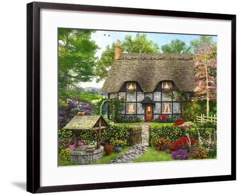 Meadow Cottage-Dominic Davison-Framed Art Print