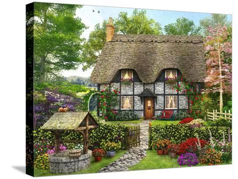 Meadow Cottage-Dominic Davison-Stretched Canvas Print