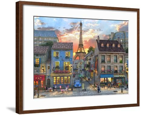Streets of Paris-Dominic Davison-Framed Art Print