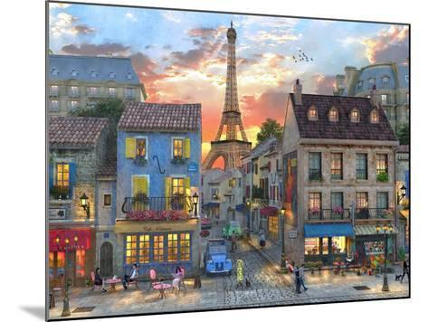 Streets of Paris-Dominic Davison-Mounted Art Print