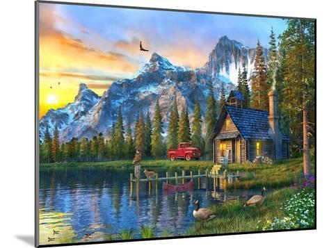 Sunset Log Cabin-Dominic Davison-Mounted Art Print