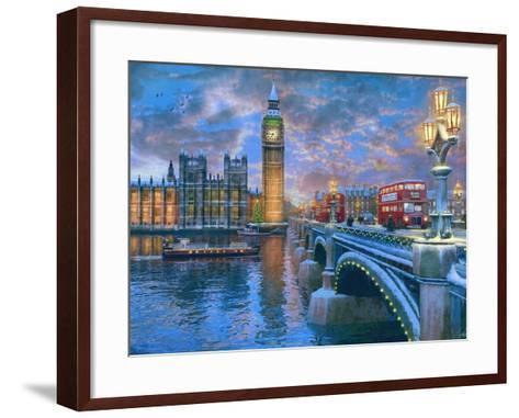 Westminster at Christmas-Dominic Davison-Framed Art Print