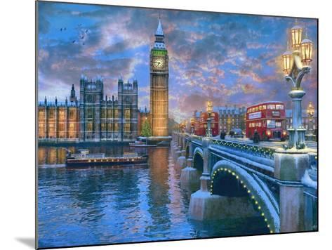 Westminster at Christmas-Dominic Davison-Mounted Art Print