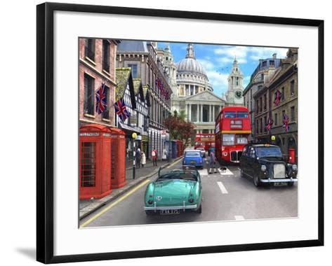 St Paul's Street Scene-Dominic Davison-Framed Art Print