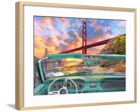 Golden Gate from a Car-Dominic Davison-Framed Art Print
