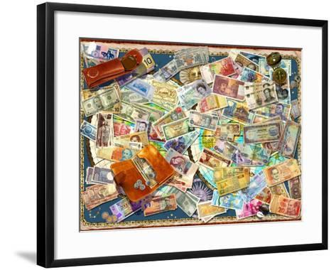 Currency Map (Variant 1)-Garry Walton-Framed Art Print