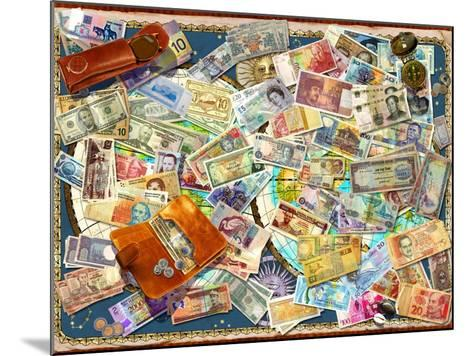 Currency Map (Variant 1)-Garry Walton-Mounted Art Print