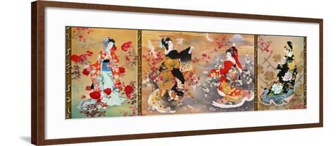Oriental Triptych-Haruyo Morita-Framed Art Print