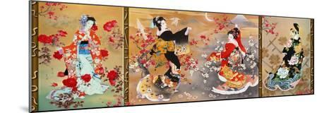 Oriental Triptych-Haruyo Morita-Mounted Art Print