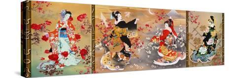 Oriental Triptych-Haruyo Morita-Stretched Canvas Print