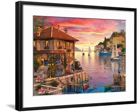 The Mediterranean Harbour-Dominic Davison-Framed Art Print