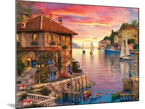 The Mediterranean Harbour-Dominic Davison-Mounted Art Print