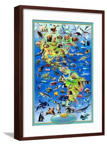 100 Endangered Species-Adrian Chesterman-Framed Art Print
