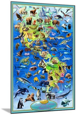 100 Endangered Species-Adrian Chesterman-Mounted Art Print