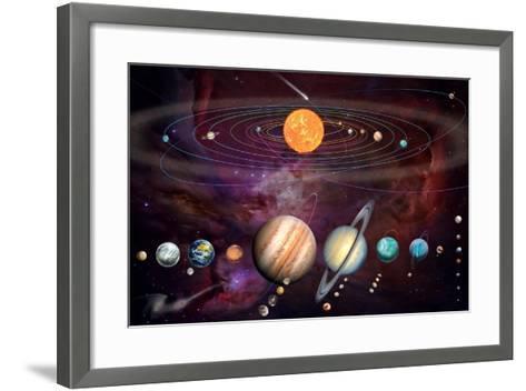 Solar System 1 (Variant 1)-Garry Walton-Framed Art Print