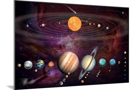 Solar System 1 (Variant 1)-Garry Walton-Mounted Art Print