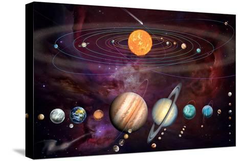 Solar System 1 (Variant 1)-Garry Walton-Stretched Canvas Print