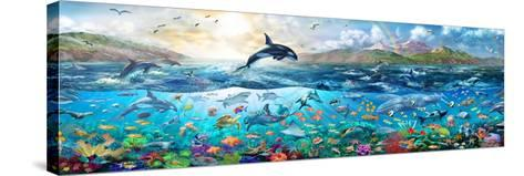 Ocean Panorama-Adrian Chesterman-Stretched Canvas Print
